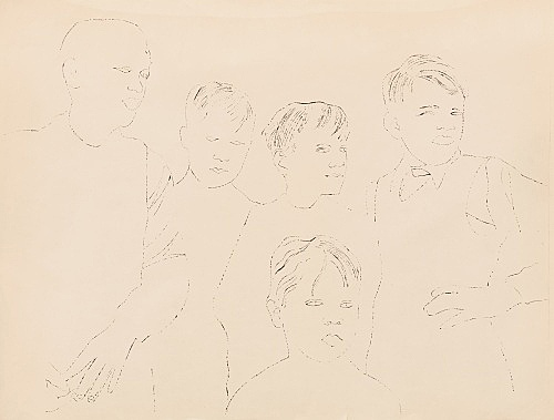 "Andy Warhol – ""Children"", ca. 1957 offset lithograph on paper 56 x 74 cm"