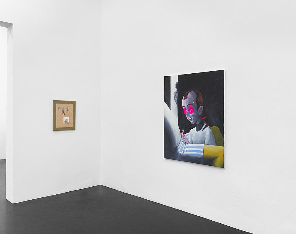 Julien Ceccaldi – Ritratto d'un capello inquietante installation view Galerie Buchholz, Köln 2019