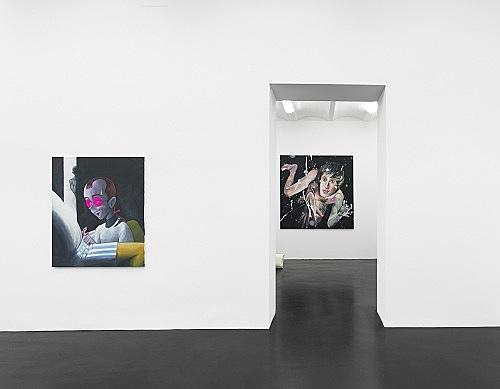 Julien Ceccaldi Mathieu Malouf – Ritratto d'un capello inquietante installation view Galerie Buchholz, Köln 2019