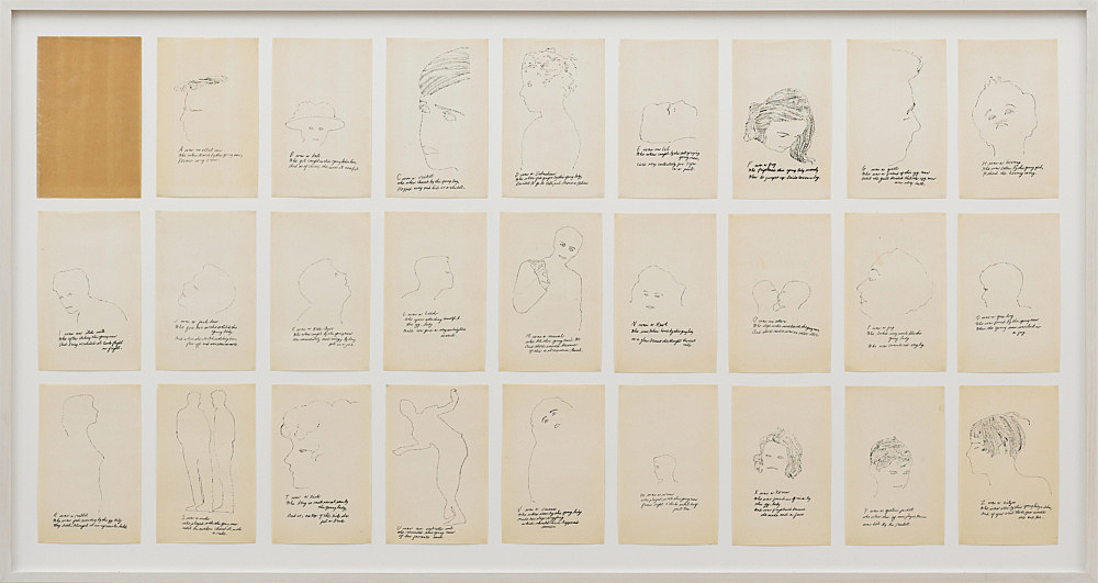 """– """"A is an Alphabet"""", 1953 offset lithograph and graphite on paper each 24 x 15,5 cm"""