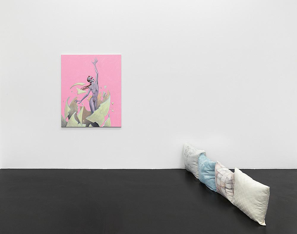 Julien Ceccaldi Nicolas Ceccaldi – Ritratto d'un capello inquietante installation view Galerie Buchholz, Köln 2019