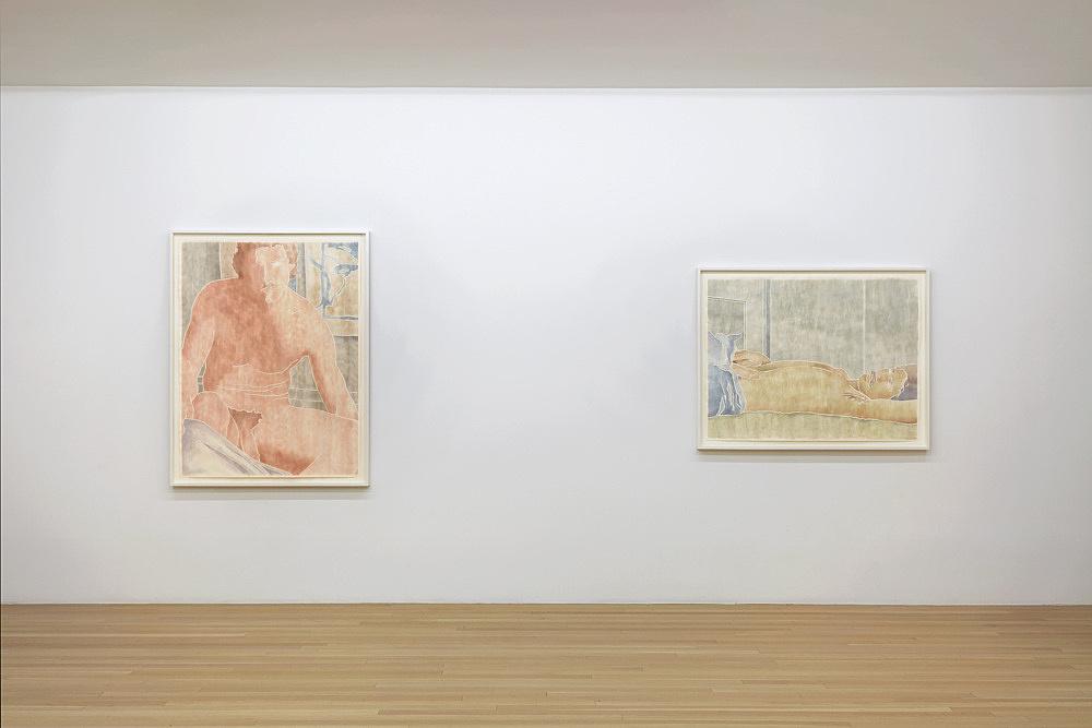 Monica Majoli – blueboys installation view Galerie Buchholz, New York 2019