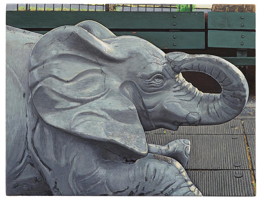 """Caleb Considine – """"Park"""", 2019 oil on canvas 25.5 x 33 cm"""