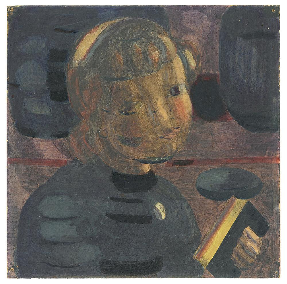 """Otto Meyer-Amden – """"Studie zu 'Vorbereitung'"""", ca. 1928 oil on cardstock 23 x 23 cm"""