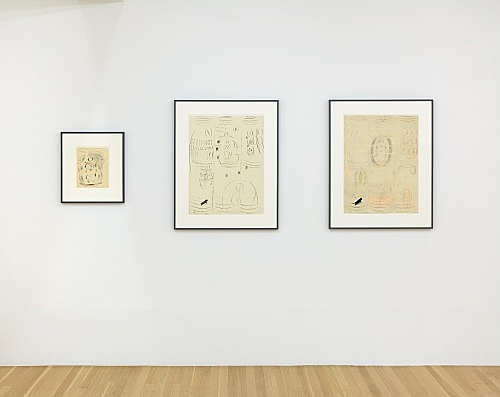 Otto Meyer-Amden – Vorbereitung installation view Galerie Buchholz, New York 2019