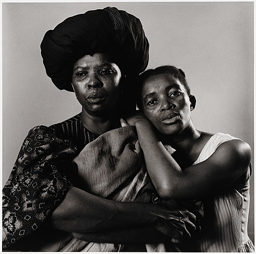 "Peter Hujar – ""Sophie MgCina and Thule Dumakunde - South African Play 'Poppie Nogena'"", 1983 gelatin silver print image 36.8 x 37.5 cm"