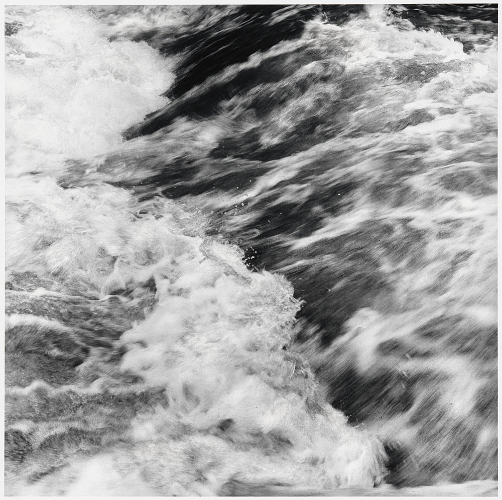 "Peter Hujar – ""Rapids, Hyrkin Farm I"", 1978 gelatin silver print image 37.2 x 37.2 cm"