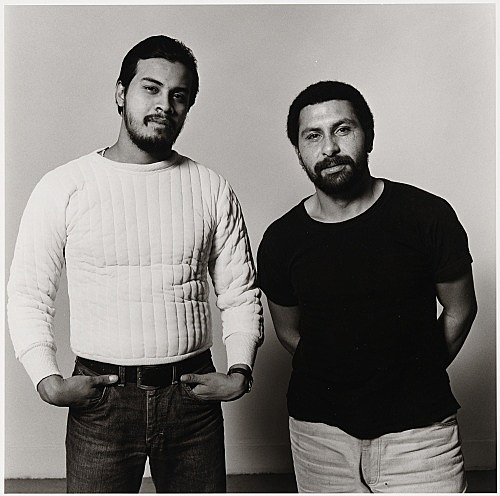 """Peter Hujar – """"Manny I and Manny II (Two Puerto Ricans)"""", 1981 gelatin silver print image 37.2 x 37.4 cm"""