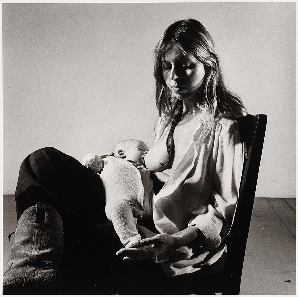 """Peter Hujar – """"Dina and John McClellan"""", 1981 gelatin silver print image 36.8 x 37.5 cm"""