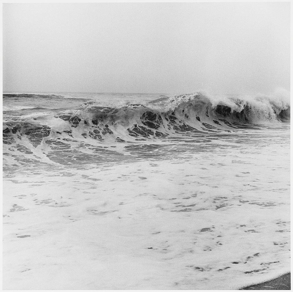 "Peter Hujar – ""Wave, Jones Beach (I)"", 1979 gelatin silver print image 37.5 x 37.5 cm"