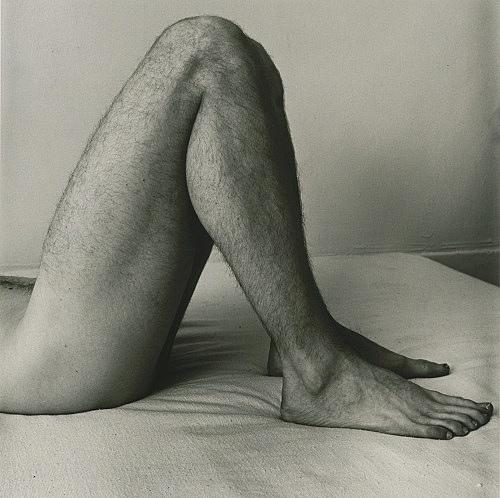 "Peter Hujar – ""Paul's Legs"", 1979 gelatin silver print image 37.4 x 37.4 cm"