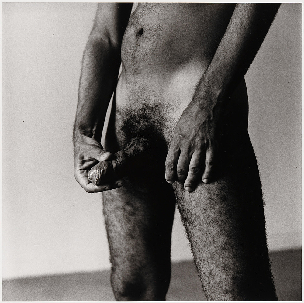 "Peter Hujar – ""Nude"", 1979 gelatin silver print image 37.5 x 37.5 cm"