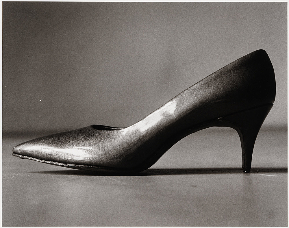 "Peter Hujar – ""Shoe (for Elizabeth)"", 1981 gelatin silver print image 37.5 x 47.6 cm"