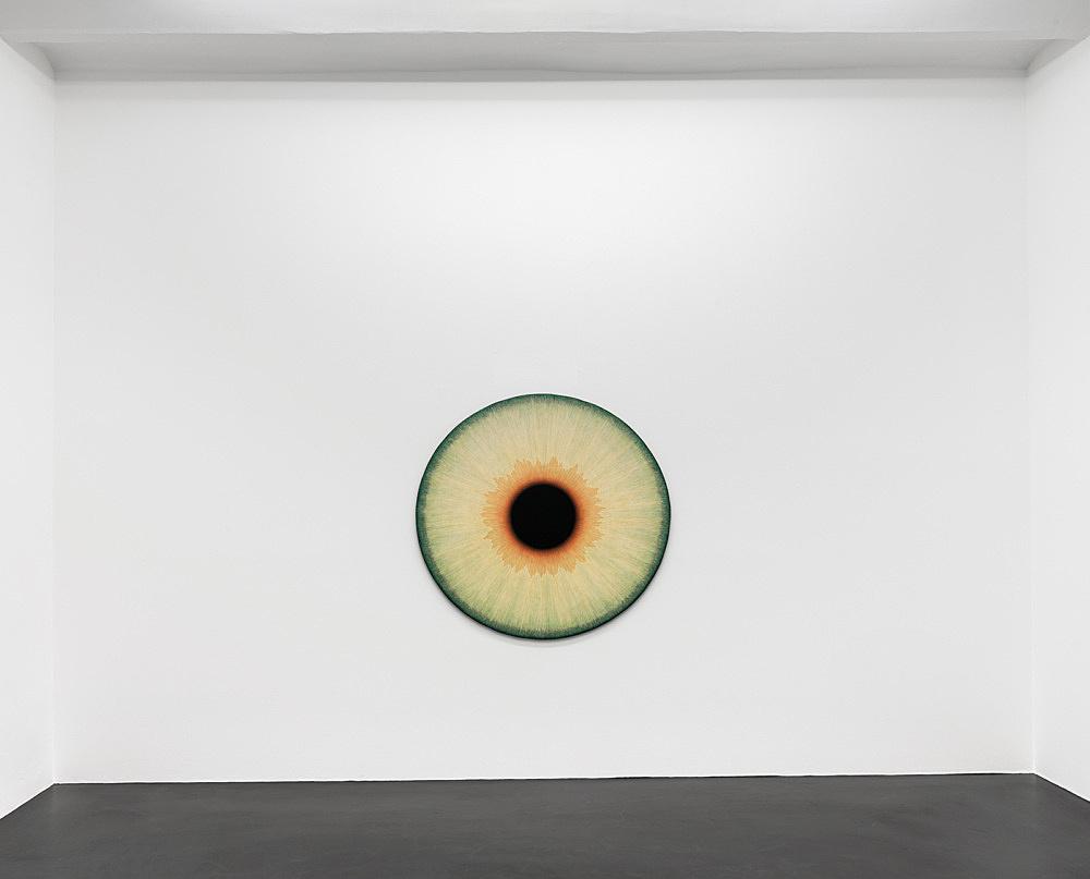 "Ulla Wiggen – ""Iris Hanna"", 2019 acrylic on panel 135 x 140 cm installation view Galerie Buchholz, Köln 2020"