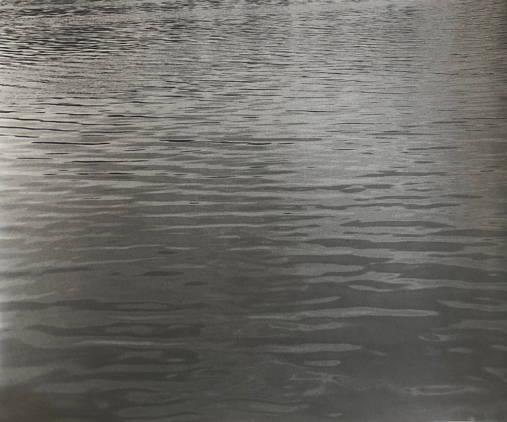 "Moyra Davey – ""Water Print 1"", 1991 silver gelatin print on Agfa Portriga Matte paper 50.8 x 61 cm"