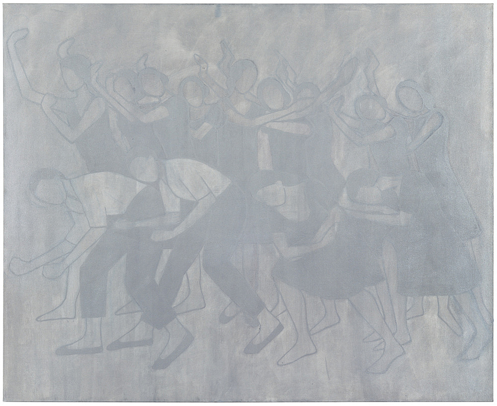 "Silke Otto-Knapp – ""Group (Les Noces)"", 2007 watercolour and gouache on canvas 130 x 160 cm"