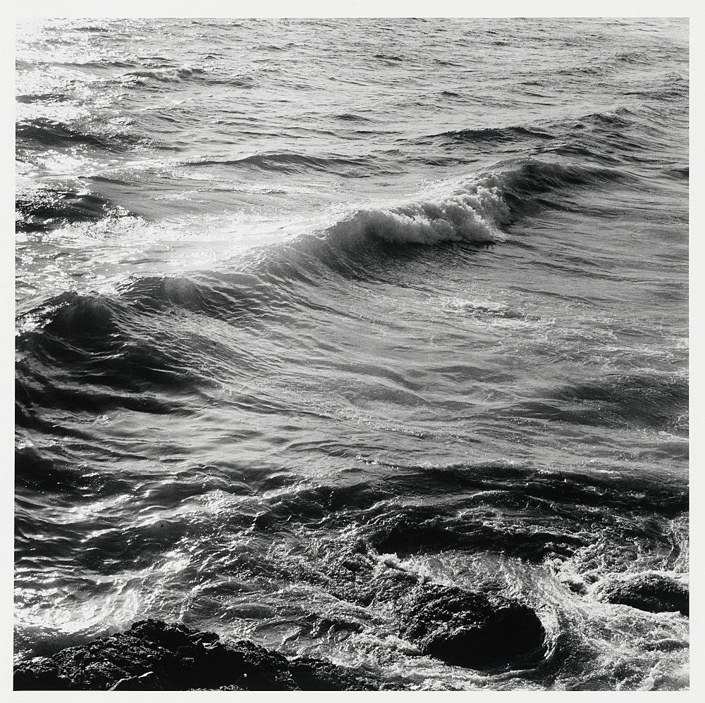 "Peter Hujar – ""Wave, Sperlonga"", 1978 gelatin silver print image 37.2 x 37.2 cm"