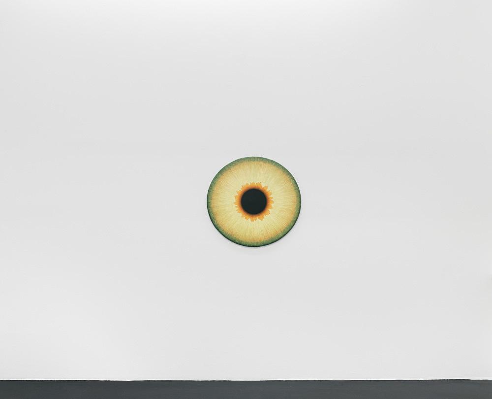"Ulla Wiggen – ""Iris XII"", 2019 acrylic on panel 73 x 76 cm installation view Galerie Buchholz, Köln 2020"