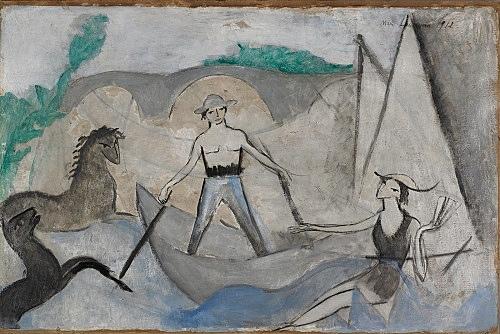 """Marie Laurencin – """"Le Pont de Passy (The Passy Bridge)"""", 1912 oil on canvas 50 x 74.3 cm Musée Marie Laurencin, Tokyo"""