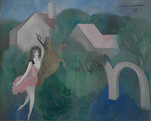 "Marie Laurencin – ""Diane"", 1921 oil on canvas 65.3 x 81.4 cm Musée Marie Laurencin, Tokyo"
