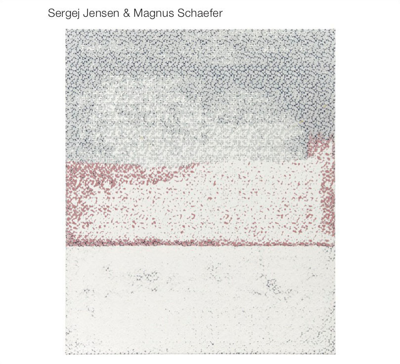 Sergej Jensen & Magnus Schaefer – 2020, music CD, 22' Edition 300 Euro 15,- – This CD contains seven tracks that artist Sergej Jensen recorded with Magnus Schaefer in New York between 2017 and 2018. The tracks were first played at the opening of Sergej Jensen's 2018 exhibition at Galerie Buchholz New York. In 2019, the recordings were mastered at the studio of Gordon Pohl in Düsseldorf.