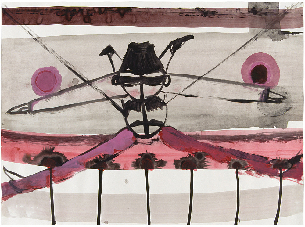 Stefan Thater – Untitled, 1999 mixed media on paper 42 x 59,4 cm