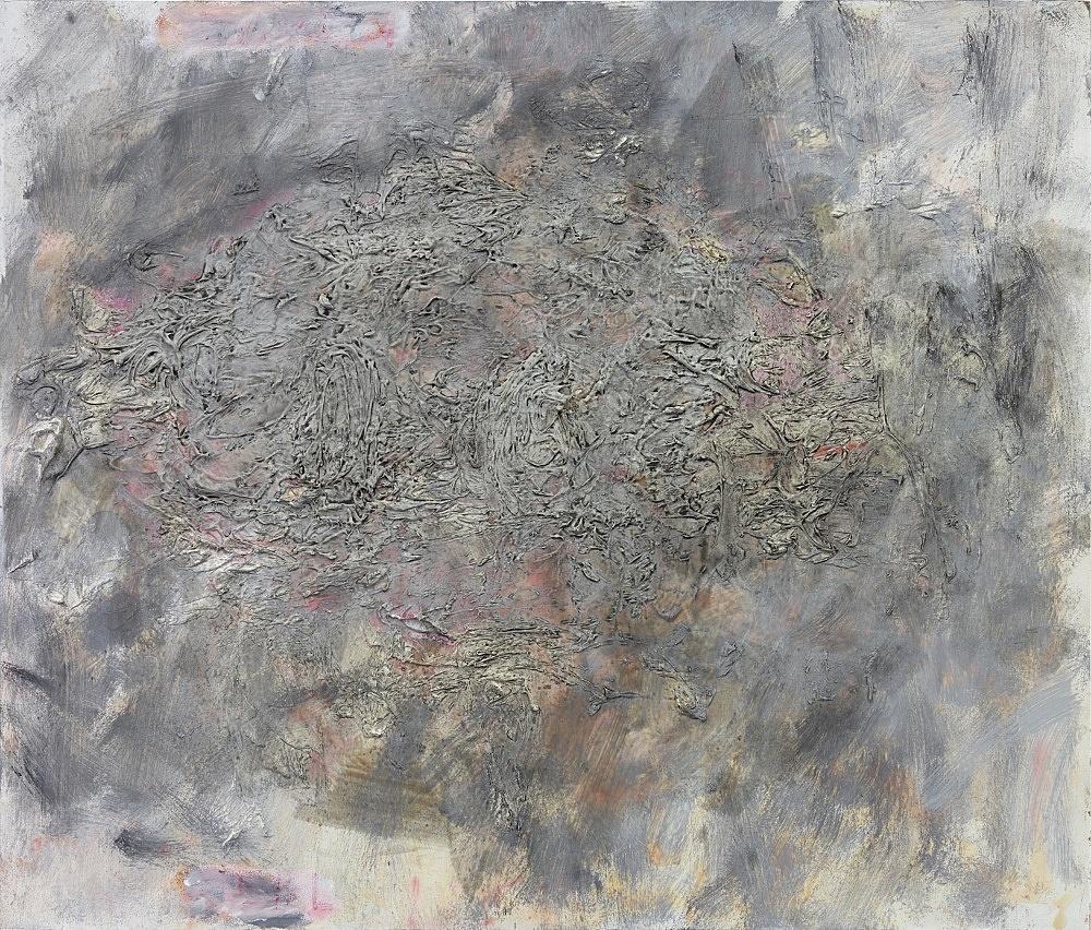 Henrik Olesen – Heaven & Hell, 2020 oil and mixed media on wood 46.7 x 54.8 x 2 cm
