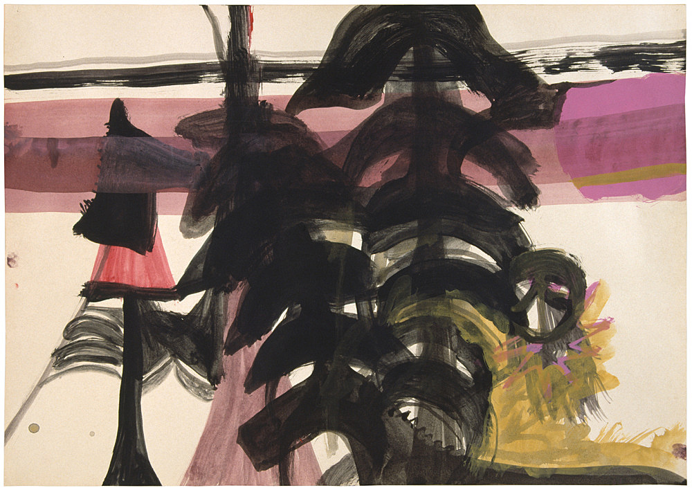 Stefan Thater – Untitled, 1999 mixed media on paper 29,7 x 42 cm