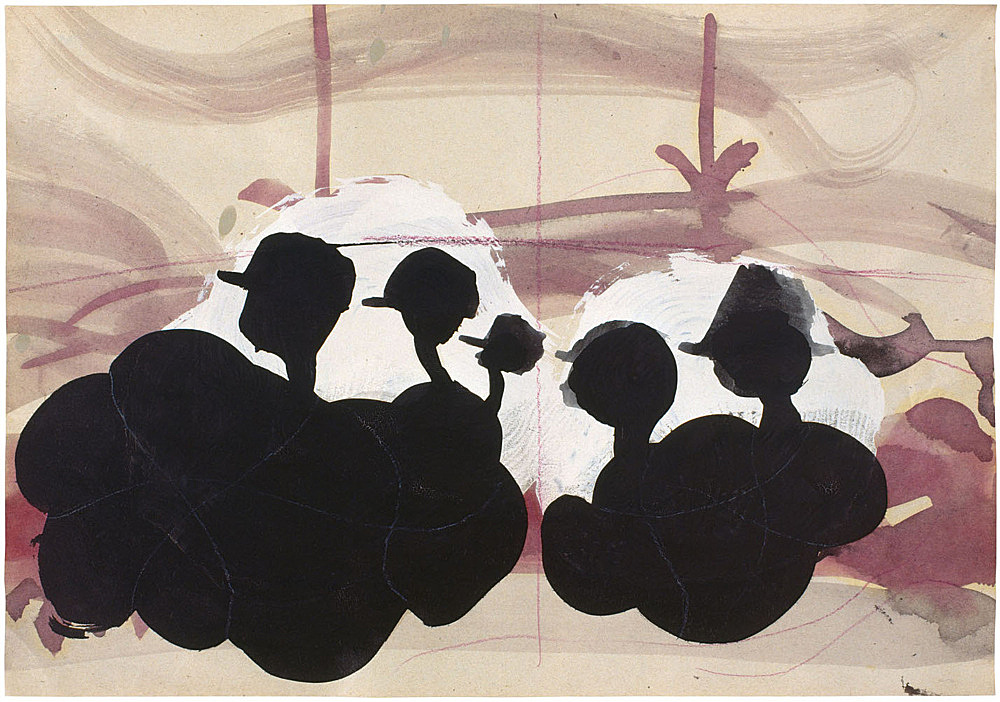Stefan Thater – Untitled, 1999 mixed media on paper 21 x 30 cm
