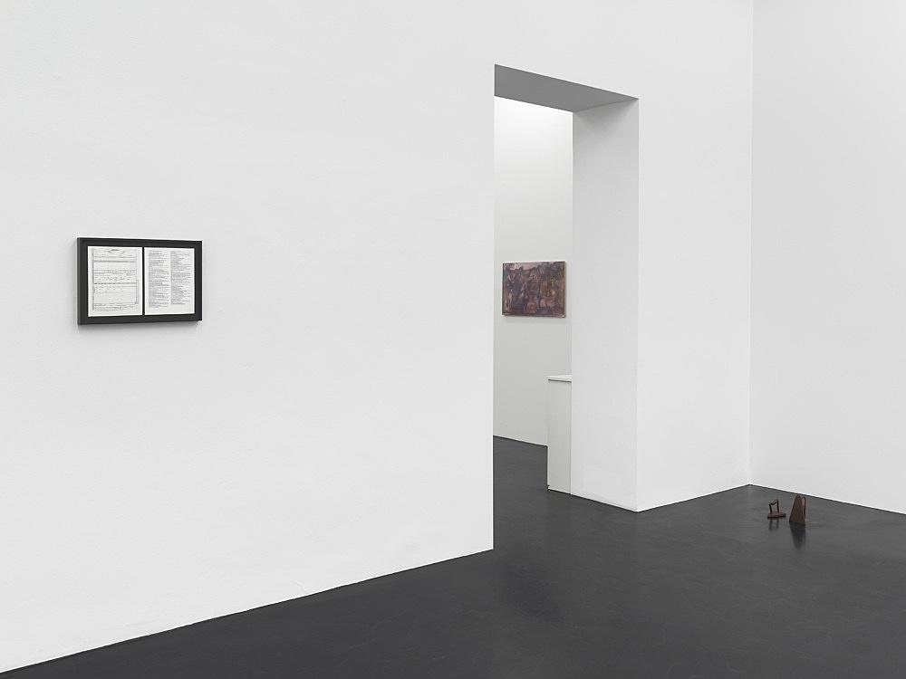 Cameron Rowland, R.H. Quaytman – installation view Galerie Buchholz, Köln 2020