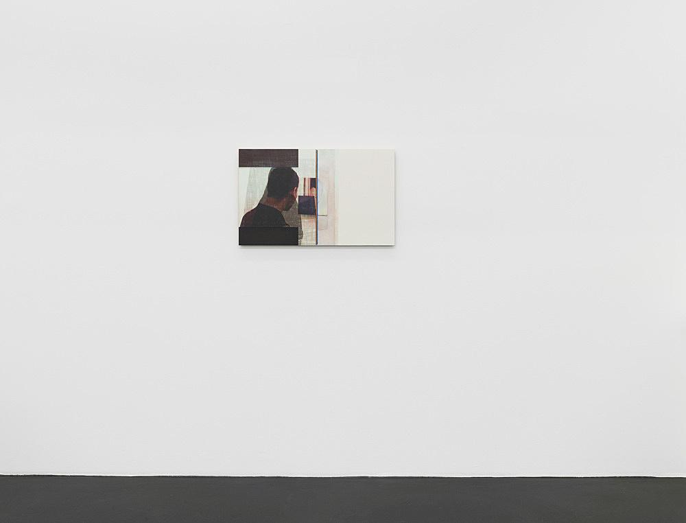 "R.H. Quaytman – ""Spine, Chapter 20 [Fraser, Anastas, Lawler]"", 2010 oil, silkscreen ink and gesso on wood 50.8 x 82.2 x 1.9 cm installation view Galerie Buchholz, Köln 2020"