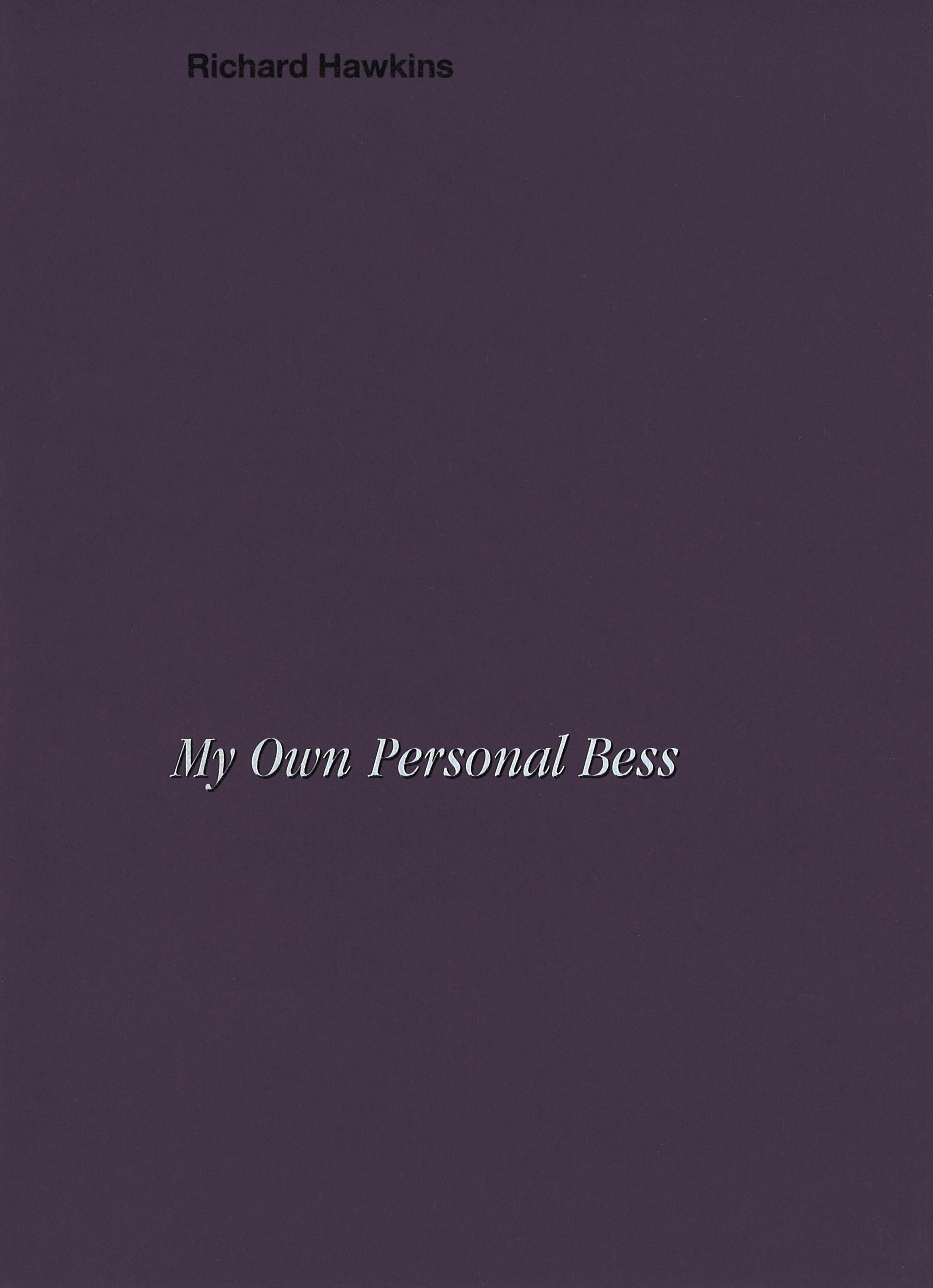 "Richard Hawkins – My Own Personal Bess 2020, 32 pages, Owrps, fully illustrated in color, silkscreened cover, 27,5 x 19,8 cm Euro 18,- – For his artist's book ""My Own Personal Bess"" Richard Hawkins has overlaid reproductions of Forrest Bess's paintings into pages of the seminal 1981 Texas Monthly article ""His Name Was Forrest Bess"" by Michael Ennis. This book is published on the occasion of the exhibition Forrest Bess at Fridericianum, Kassel. It contains full bleed images of 12 collages together with a text by Richard Hawkins."