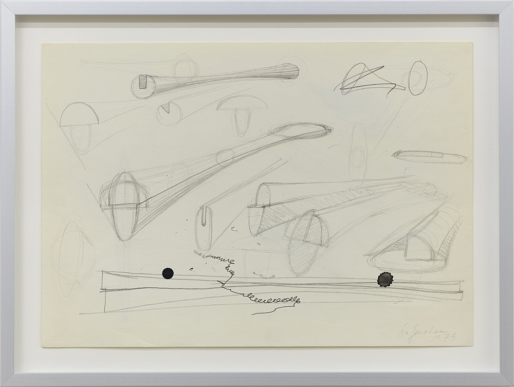 Isa Genzken – Untitled, 1979 pencil, ink, and ball point pen on paper 21 x 29.7 cm (framed: 26.5 x 35.2 x 2.5 cm)