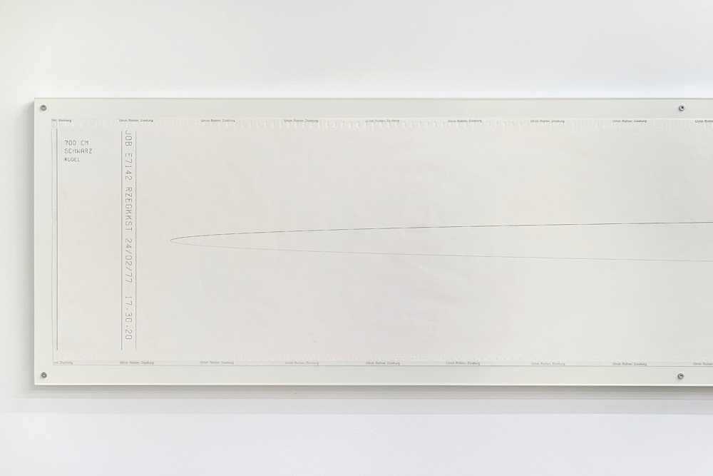 Isa Genzken – Untitled, n.d. (ca. 1976) computer printout on continuous paper 30.5 x 711.8 cm detail