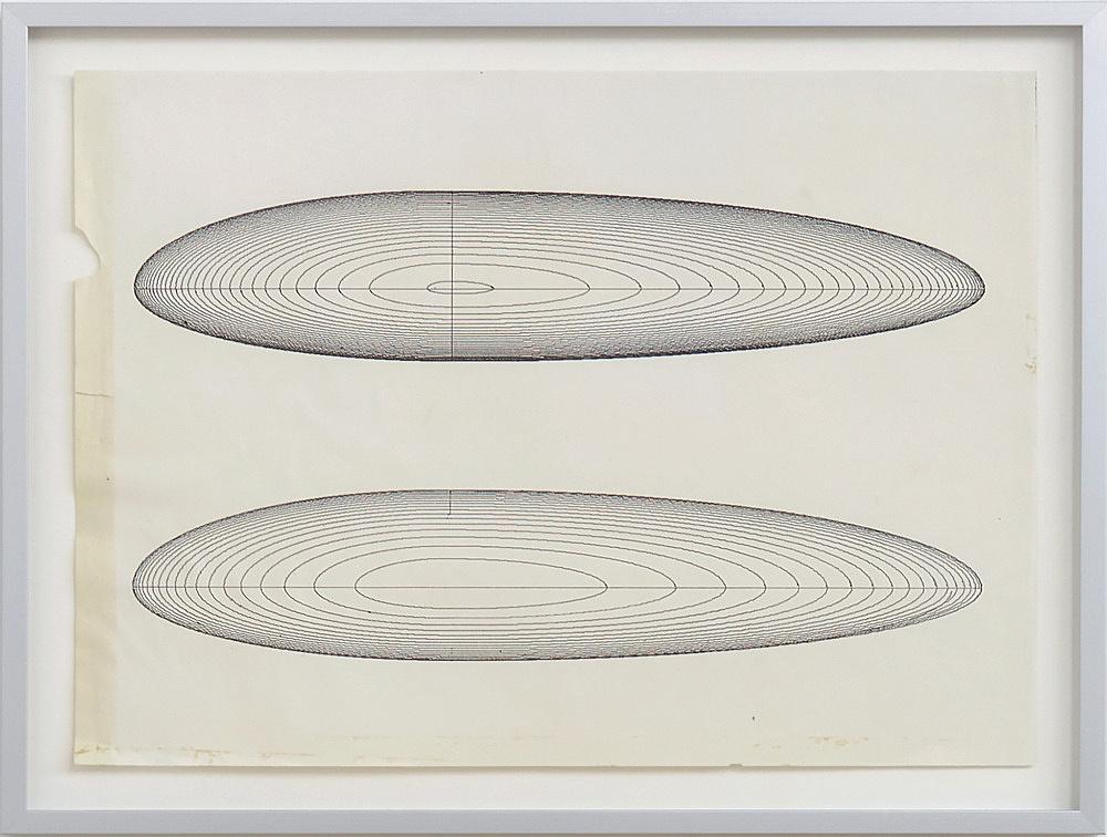 Isa Genzken – Untitled, n.d. (ca. 1981) computer printout 28.6 x 36 cm (framed: 34 x 41.5 x 2.5 cm)