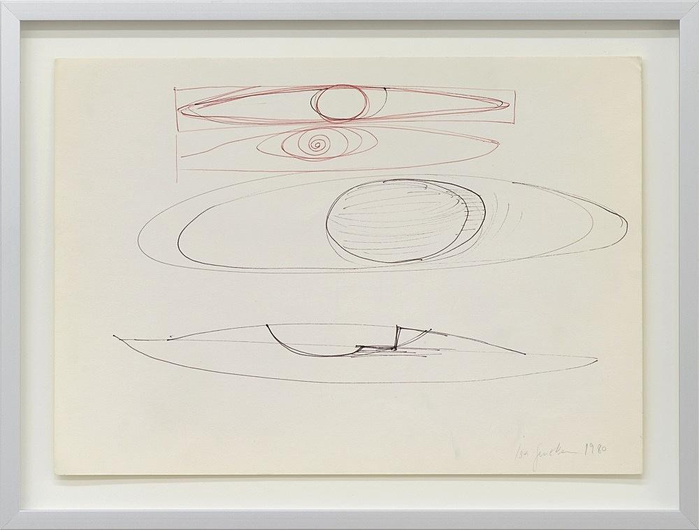 Isa Genzken – Untitled, 1980 felt pen and ball point pen on paper 20.8 x 29.6 cm (framed: 26.4 x 35.1 x 2.5 cm)