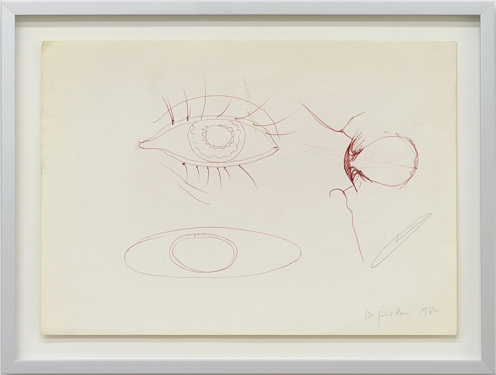 Isa Genzken – Untitled, 1980 ball point pen and pencil on paper 20.8 x 29.6 cm (framed: 26.5 x 35.2 x 2.5 cm)