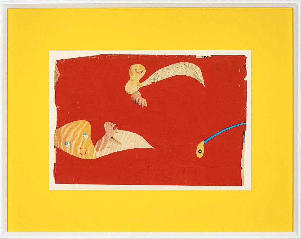 "Lukas Duwenhögger – ""Forbidden Fruit"", 1977 gouache and collage on magazine paper in artist's frame 56 x 70,5 cm"