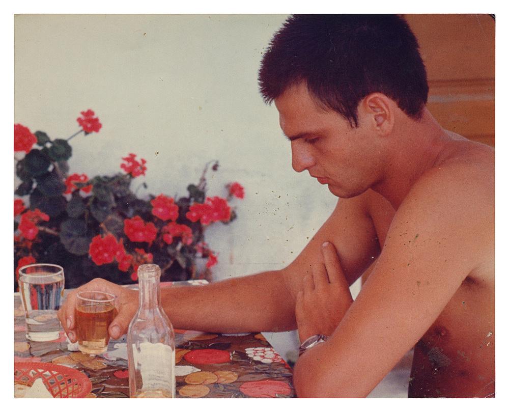 "Alvin Baltrop – ""The Navy (man at table)"", n.d. (1969-1972) c-print 20 x 25.2 cm"