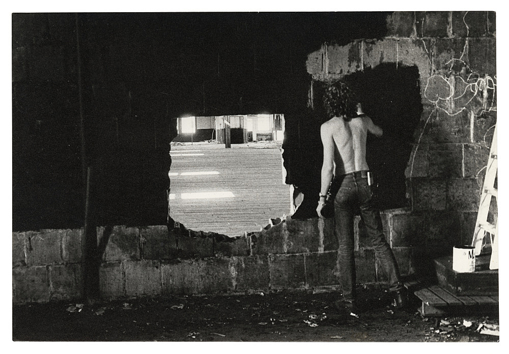 "Alvin Baltrop – ""The Piers (Tava from back)"", n.d. (1975-1986) silver gelatin print 11.4 x 17.2 cm"