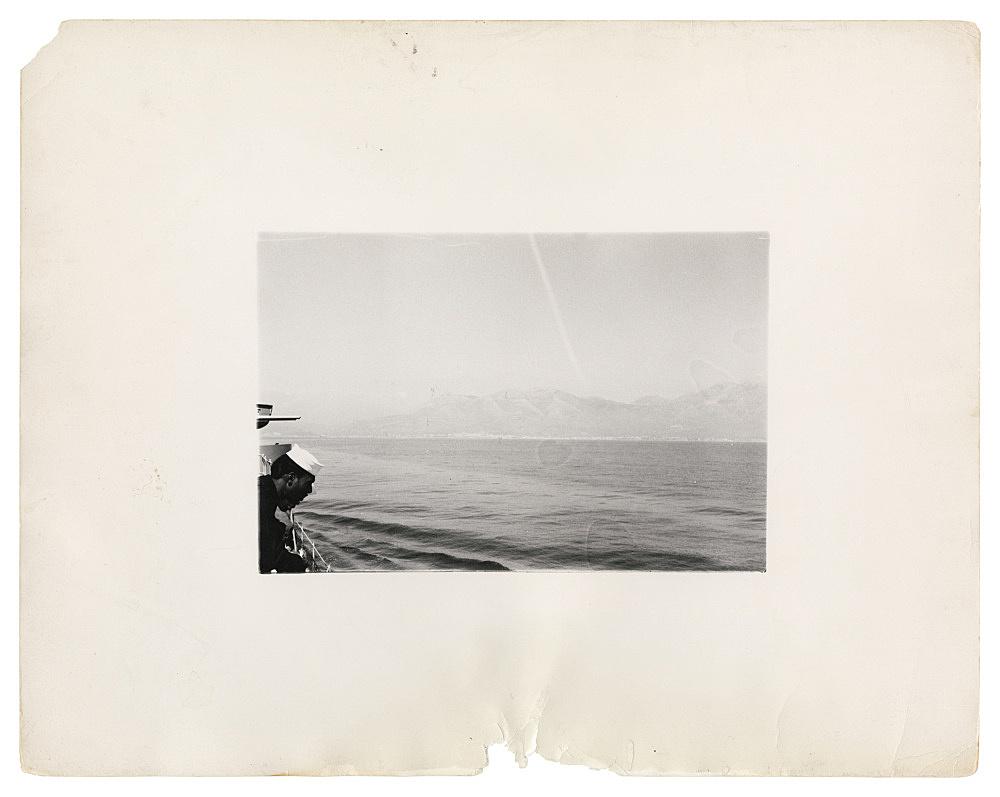 "Alvin Baltrop – ""The Navy (coastline)"", n.d. (1969-1972) silver gelatin print image size: 12.5 x 18.5 cm paper size: 28 x 35 cm"