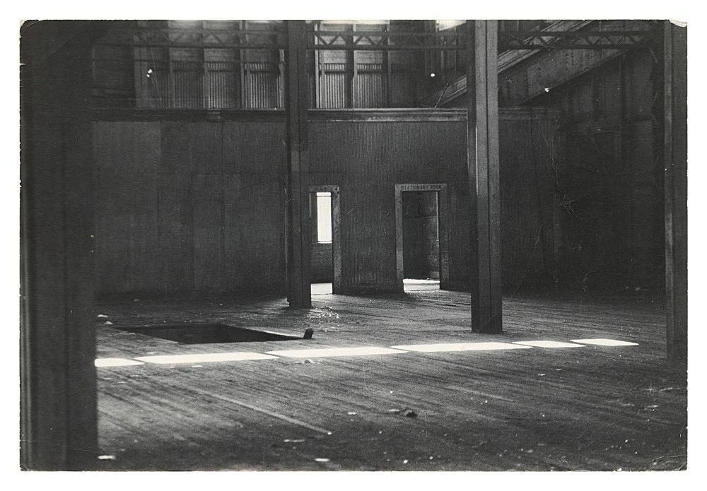 """Alvin Baltrop – """"The Piers (warehouse interior)"""", n.d. (1975-1986) silver gelatin print 16.5 x 24.8 cm"""