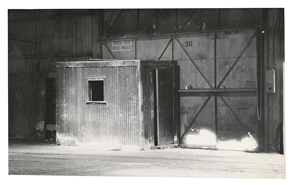 """Alvin Baltrop – """"The Piers (warehouse interior)"""", n.d. (1975-1986) silver gelatin print 15.2 x 24.1 cm"""