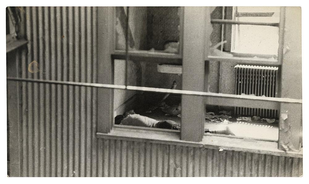 "Alvin Baltrop – ""The Piers (man lying in room)"", n.d. (1975-1986) silver gelatin print 11.4 x 20 cm"
