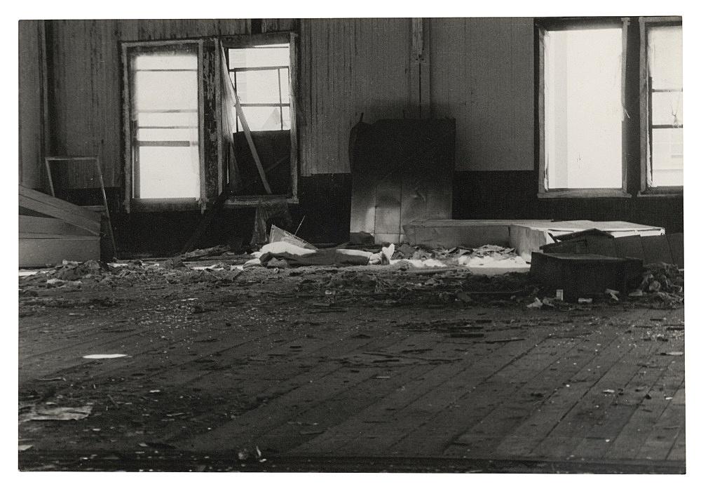 "Alvin Baltrop – ""The Piers (body under cloth)"", n.d. (1975-1986) silver gelatin print 11.4 x 16.8 cm"