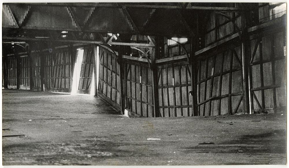 """Alvin Baltrop – """"The Piers (warehouse interior)"""", n.d. (1975-1986) silver gelatin print 14 x 25 cm"""