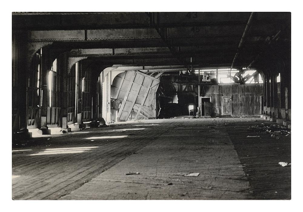 """Alvin Baltrop – """"The Piers (warehouse interior)"""", n.d. (1975-1986) silver gelatin print 11.5 x 16.7 cm"""