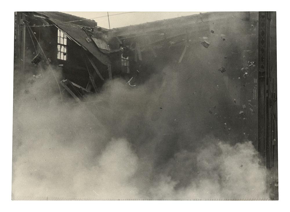 "Alvin Baltrop – ""The Piers (building collapsing)"", n.d. (1975-1986) silver gelatin print 11.7 x 16.4 cm"