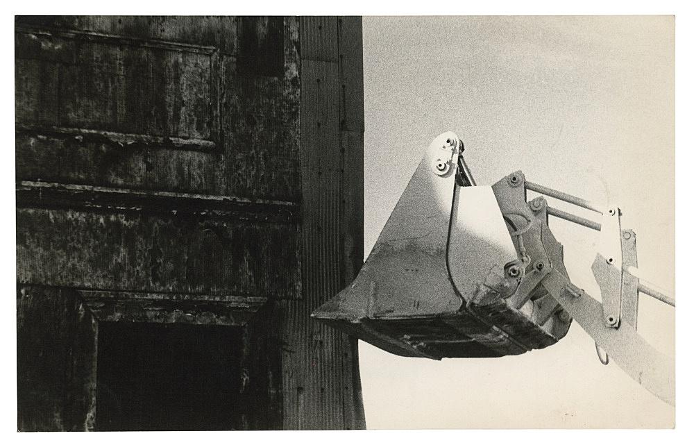 "Alvin Baltrop – ""The Piers (warehouse and demolition truck)"", n.d. (1975-1986) silver gelatin print 10.5 x 16.5 cm"