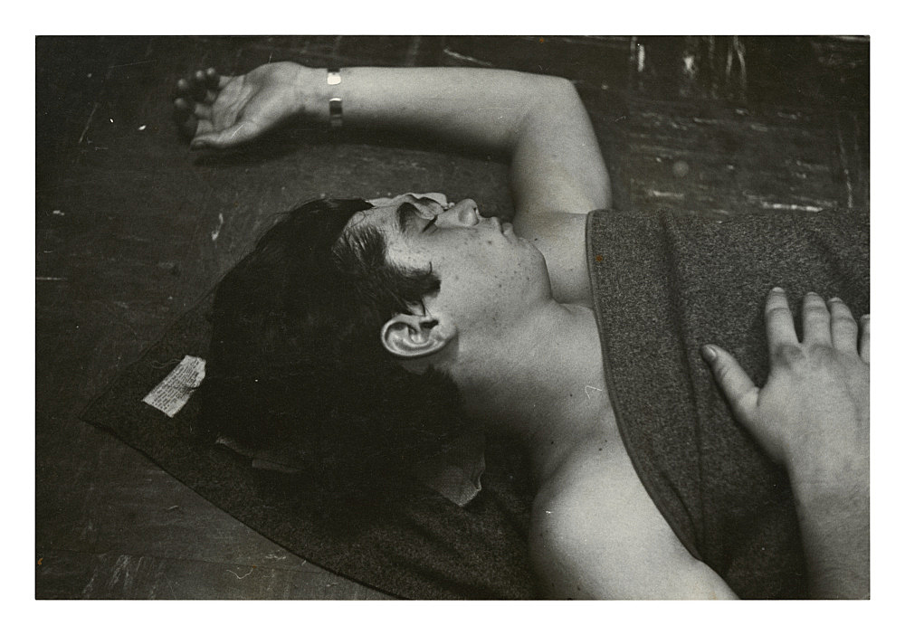 """Alvin Baltrop – """"The Navy (man under blanket)"""", n.d. (1969-1972) silver gelatin print 11.5 x 17 cm"""